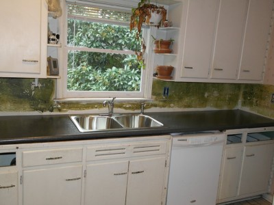 New counter and sink