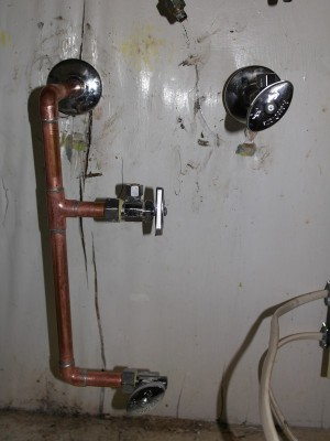 New water lines and shutoffs
