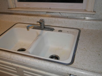 Old sink and counter
