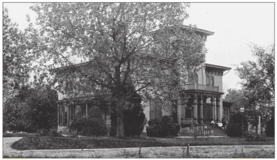 The Melrose Estate house in Knoxville, Tennessee where Aunt Fannie lived.