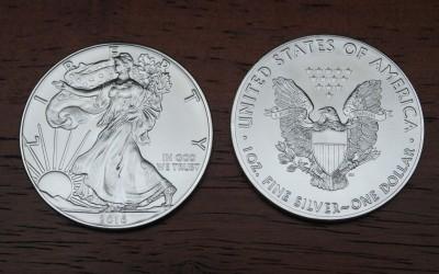 2016 US silver eagle coin