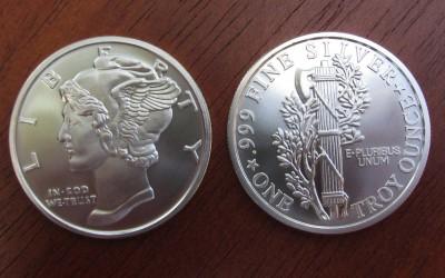 1 oz silver Mercury round