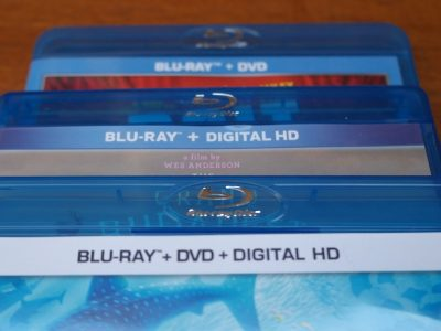 Three Blu-rays, one that includes Digital HD download, one with DVD, and one with both.